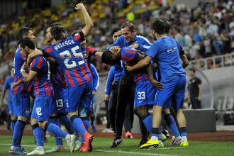 Steaua a cucerit dramatic campionatul si a obtinut al treilea sau titlu consecutiv. Desfasurarea meciului
