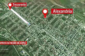 Urmarire cu focuri de arma pe strazile din Alexandria. De ce a fugit de politie soferul unui Porsche