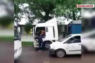 Scandal in trafic, la intrarea in Slobozia. Un sofer de TIR a fost agresat de un conducator auto nervos
