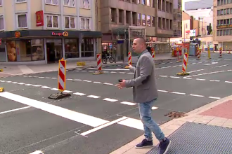 Exemplul perfect pentru primarii Bucurestiului. Orasul in care tramvaiul e subteran, iar trotuarele apartin doar pietonilor