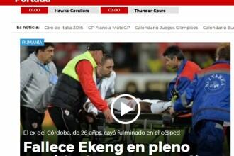 Tragedia din Stefan cel Mare, in presa internationala. BBC, The Guardian si Marca au scris despre moartea lui Patrick Ekeng