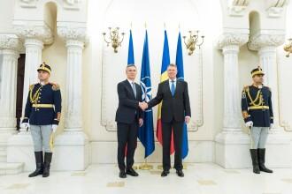 Vizită importantă a șefului NATO la București. Klaus Iohannis ține un discurs în Parlament