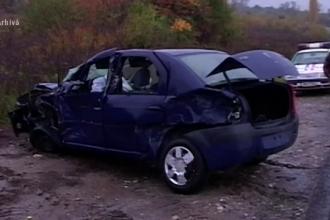 Trei politisti, raniti in misiune dupa ce o soferita a intrat cu masina in ei, pe contrasens. Toti au ajuns la spital