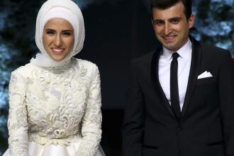 Fiica lui Erdogan, mireasa cu parul acoperit de valul islamic la o nunta cu 6000 de invitati. Cine este mirele