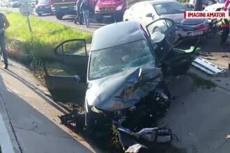 Grav accident in lant la intrarea in Iasi. O tanara de 25 de ani a murit, iar trei barbati sunt in stare grava la spital