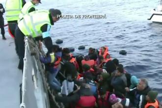 Zeci de migranti, salvati de la inec de politistii romani de frontiera. Acordul UE-Turcia este in pericol