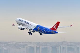 Un avion al Turkish Airlines, evacuat dupa gasirea unei note de amenintare privind un atac cu bomba