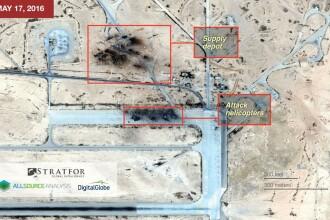 Stratfor anunta ca Statul Islamic a distrus patru elicoptere ale Rusiei in Siria. Moscova dezminte informatiile