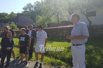 Klaus Iohannis si-a sustinut sotia la Semimaratonul Sibiului: