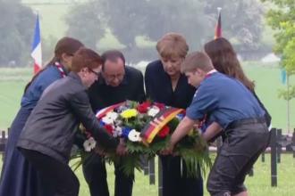Un secol de la cea mai lunga batalie din Primul Razboi Mondial. Ceremonia la care au asistat Hollande si Merkel
