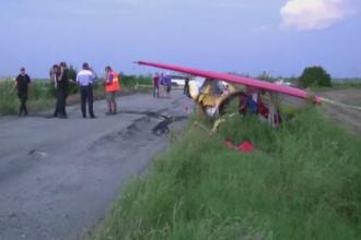 Incident grav pe aerodromul de la Vadeni. Un deltaplan s-a zdrobit de pamant dupa ce pilotul a ratat aterizarea