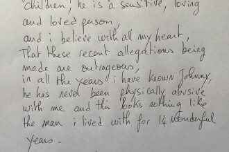 Scrisoarea deschisa in care Vanessa Paradis ii sare in aparare lui Johnny Depp: Acuzatiile care i se aduc sunt scandaloase