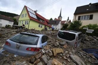 Inundatii puternice si alunecari de teren in sud-vestul Germaniei: cel putin 3 oameni si-au pierdut viata