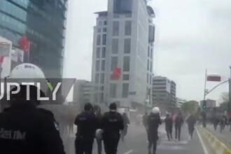 Peste 200 de persoane retinute, dupa ce politistii turci au lansat gaze lacrimogene la mitingurile de Ziua Muncii