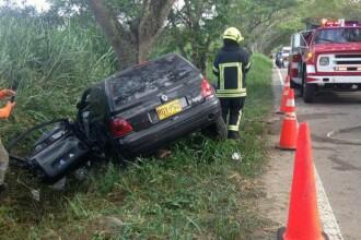 Un tanar fotbalist columbian a murit intr-un accident rutier. Logodnica sa este in stare critica