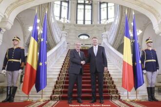 Klaus Iohannis, întâlnire cu Juncker și comisari europeni. Mesajul președintelui României