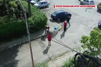 Un Bichon a fost atacat de un pitbull, sub privirile stapanilor lor. Totul s-a intamplat pe o strada din Targoviste. VIDEO