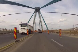 Podul de la Agigea, reparat dupa 4 ani de santier. Autoritatile spun ca se va circula pe 4 benzi