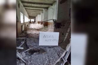 Scoala 141 din Capitala, unde un tavan din beton s-a prabusit, a fost inchisa. De ce nu a raportat directoarea incidentul