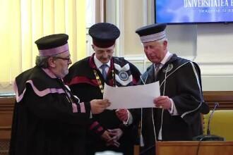 Printul Charles a primit titlul de Doctor Honoris Causa al Universitatii Babes-Bolyai. Discursul tinut in romana