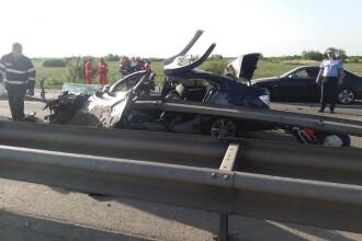 Accident grav pe A1. O persoană a murit, două sunt în stare gravă. Traficul s-a reluat pe ambele sensuri