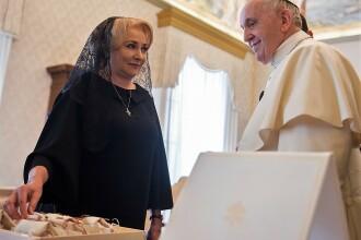 Viorica Dăncilă: Papa Francisc va veni în România la începutul lui 2019. Reacția Bisericii Catolice