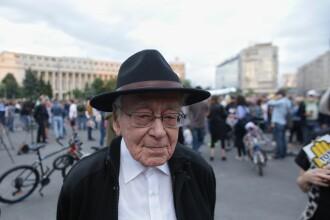 Mihai Șora, la protestul din Piața Victoriei. Mesajul lui pentru români: Luptați pentru dreptate!