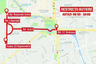 Semimaratonul Internaţional Bucureşti. Trafic restricţionat în mai multe zone duminică