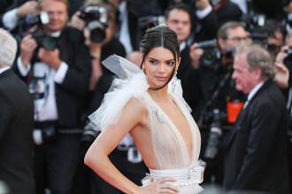 Kendall Jenner, spectaculoasă la Cannes. Modelul a purtat din nou o rochie foarte transparentă