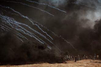 Război în Fâșia Gaza, în ziua deschiderii ambasadei SUA. 55 de morți și mii de răniți