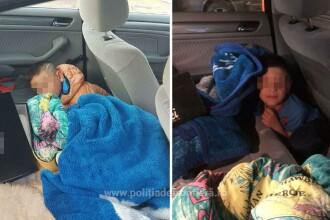 Copil de 7 ani, ascuns de părinţi sub o pătură în maşină. Ce plan aveau cu el