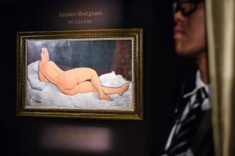 Un nud de Modigliani a fost vândut la licitaţie cu 157,2 milioane de dolari