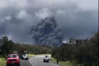 Vulcanul Kilauea din Hawaii a erupt. Norul de cenușă s-a ridicat la peste 9.000 de metri