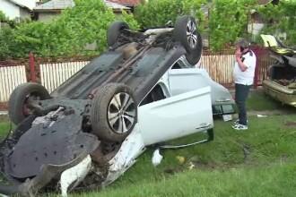 Accident în lanţ, pe o şosea din Dâmboviţa.