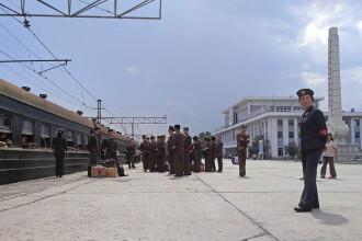 Un militar nord-coreean a murit de foame, după ce trenul cu care mergea a întârziat o săptămână