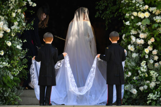 Nunta regală. Meghan Markle a purtat o rochie de mireasă Givenchy
