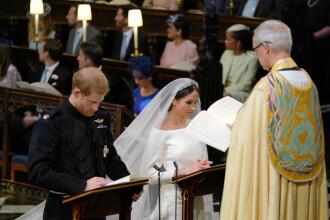 Nunta regală. Momentul în care Prințul Harry și Meghan Markle își jură credință. Cum au încălcat tradiția