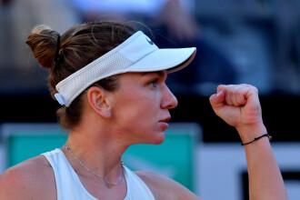 Simona Halep - Maria Sharapova 4-6; 6-1; 6-4. Simona este în finală la Roma