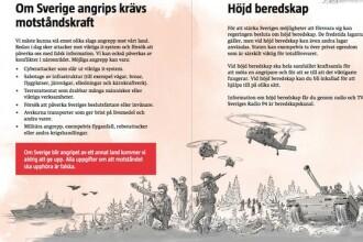 O broşură editată în 4,8 milioane de exemplare pregăteşte populaţia pentru război în Suedia