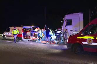 """Două mașini, lovite de TIR pe Șoseaua de Centură a Capitalei: """"A intrat în noi, nu a oprit"""""""