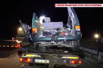 Filmul accidentului în care 9 români au murit. Șoferul ar fi crezut că merge pe autostradă