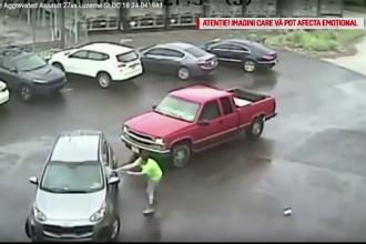 Mașină atacată cu barosul, în trafic. Cum a reacționat șoferul