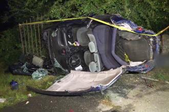 Copil ucis într-un accident provocat de un șofer beat. Rudele, potolite de trupele speciale