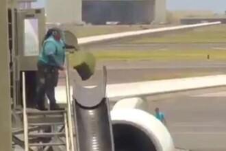 Imagini scandaloase surprinse într-un aeroport. Bagajele pasagerilor, aruncate de la înălțime