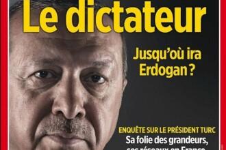 Macron reacţionează după ce un afiş al unei reviste critice cu Erdogan a fost înlăturat