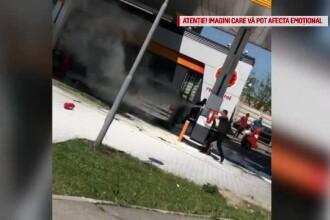 De ce şi-ar fi dat foc un şofer în benzinărie.