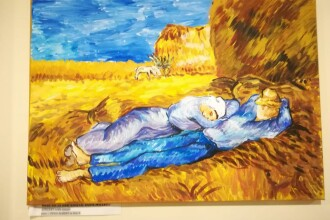 Pictura lui Andu, un băiat de 10 ani. Reproducere după Van Gogh
