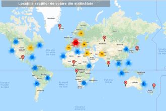 E.U. YES LA VOT. Harta interactivă cu secțiile de votare din străinătate