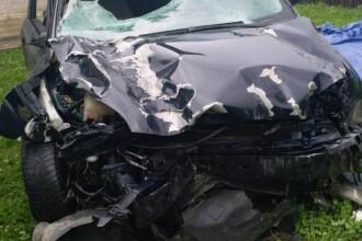 Jandarmul care a produs un accident rutier grav şi a fugit de la faţa locului s-a predat