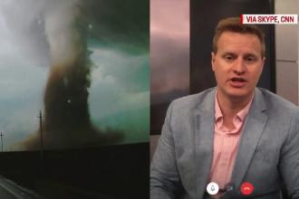 Meteorologul șef de la CNN, uimit de tornada din Călărași. Reacția sa la clipurile filmate de români